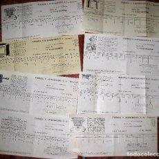 Facturas antiguas: 8 CURIOSA FACTURA AÑO 1933 FUERZA Y ALUMBRADO MANRESA PUBLICIDAD APARATOS ELECTRICOS ELECTRICIDAD. Lote 70406017
