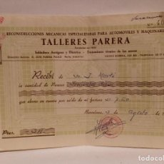 Facturas antiguas: FACTURA TALLERES PARERA 1960.. Lote 71043297