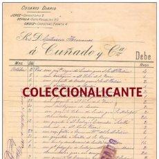 Facturas antiguas: COSARIO DIARIO CUÑADO Y CIA. - ALBARÁN O FACTURA FECHADA EN 1900 - TIMBRE MÓVIL - TAL FOTO. Lote 71657951