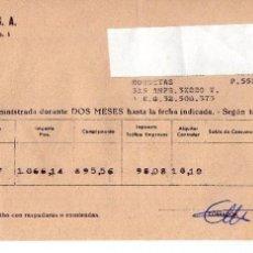 Facturas antiguas: HIDROLECTICA DEL CHORRO,S.A. ALMERIA . Lote 72818571