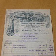 Facturas antiguas: ANTIGUA FACTURA PLATA MENESES VALENCIA 1927. Lote 74623011