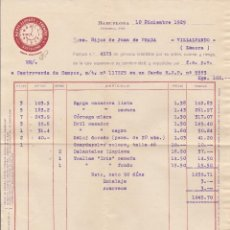 Facturas antiguas: FACTURA. MARTI.LLOPART Y TRENCHS. TEXTIL. BARCELONA. 1929.. Lote 75016295