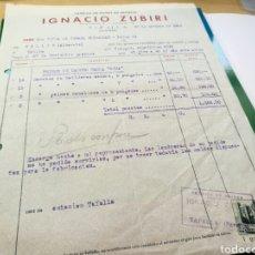 Facturas antiguas: FACTURA DE 1948. FÁBRICA DE PEINES DE IGNACIO ZUBIRI. TAFALLA ( NAVARRA). Lote 76754250