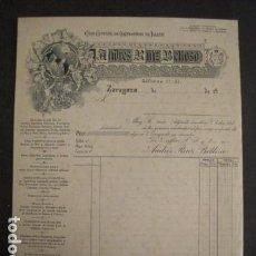 Facturas antiguas: ORNAMENTOS IGLESIA - ANDRES RUIZ BELLOSO - ZARAGOZA -FACTURA ANTIGUA -VER FOTOS-(V-9377). Lote 78175645