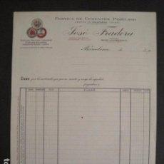 Facturas antiguas: CEMENTOS PORTLAND - JOSE FRADERA - BARCELONA -FACTURA ANTIGUA-VER FOTOS-(V-9410). Lote 78264425