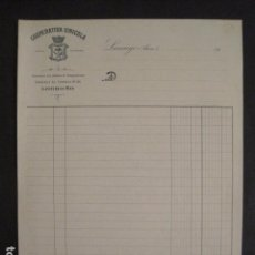 Facturas antiguas: COOPERATIVA VINICOLA - LANCIEGO - ALAVA - LOGROÑO -FACTURA ANTIGUA-VER FOTOS-(V-9414). Lote 78264937