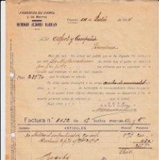 Faturas antigas: FACTURA COMERCIAL POSADAS -CORDOBA- FABRICA DE PAPEL REMIGIO ALBORS RADUAN 1914. Lote 80364961