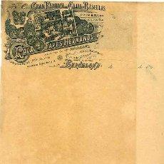 Facturas antiguas: FACTURA LITOGRAFIA FABRICA DE CAJAS Y BASCULAS ROCA PARES HERMANOS. BARCELONA. AÑO 1897. Lote 81921688