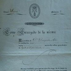 Facturas antiguas: LEGADO A FAVOR DE LA CASA HOSPICIO DE Nª Sª DE LA MISERICORDIA DE VALENCIA 1853. Lote 82215464
