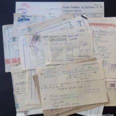 Facturas antiguas: COLECCION DE 35 FACTURAS ( AÑOS 40 - 50 ) DIFERENTES COMERCIOS DE BINEFAR / HUESCA. Lote 82446248