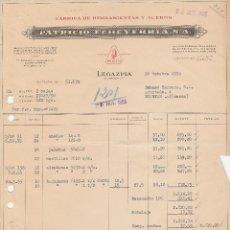 Facturas antiguas: FACTURA. PATRICIO ECHEVARRIA, S.A. FABRICA DE HERRAMIENTAS Y ACEROS. LEGAZPIA-GUIPUZCOA. 1955.. Lote 83474436
