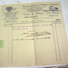 Facturas antiguas: FACTURA 1925 CARROS Y CARRETAS CORDOBA. Lote 85741720