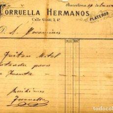 Facturas antiguas: FACTURA LITOGRAFIA TORRUELLA HERMANOS. PLATEROS. CALLE GIRITI Nº 3. BARCELONA AÑO 1886. Lote 86040468