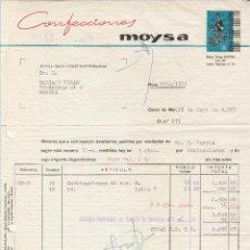 Facturas antiguas: FACTURA. CONFECCIONES MOYSA. CANET DE MAR-BARCELONA. 1965.. Lote 86974192
