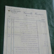 Facturas antiguas: FACTURA TALLERES MECANICOS CONSTRUCCIONES MADERA CUCURELLA HERMANOS, BARCELONA, 1931 - 3 HOJAS. Lote 87073764