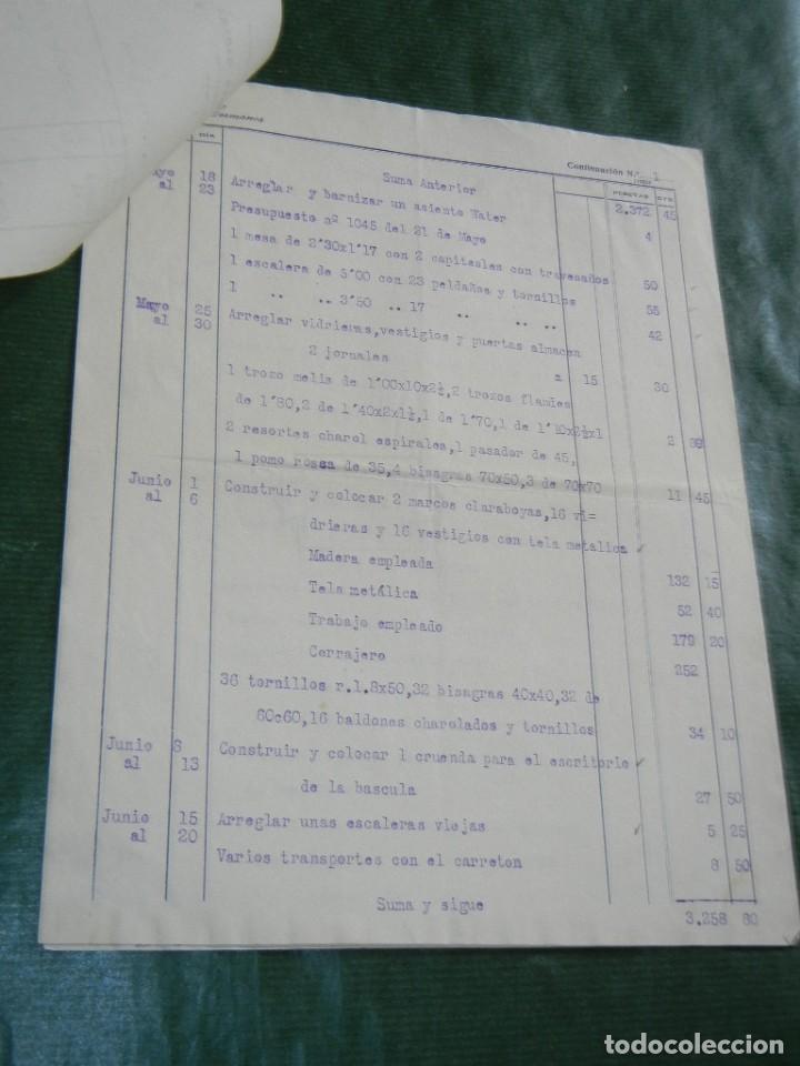 Facturas antiguas: FACTURA TALLERES MECANICOS CONSTRUCCIONES MADERA CUCURELLA HERMANOS, BARCELONA, 1931 - 3 HOJAS - Foto 2 - 87073764