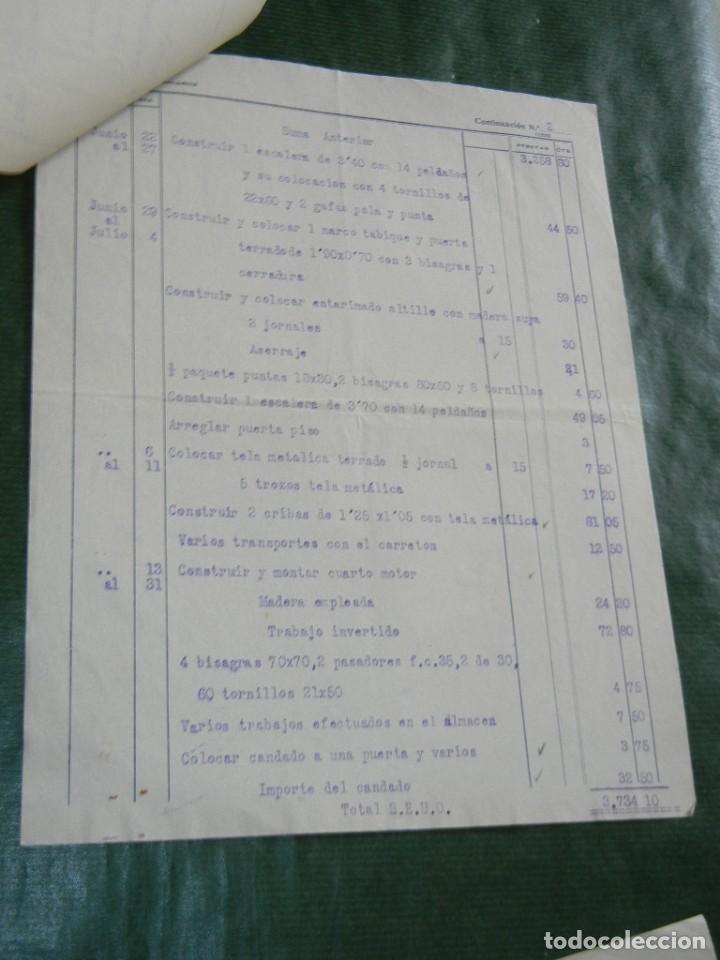 Facturas antiguas: FACTURA TALLERES MECANICOS CONSTRUCCIONES MADERA CUCURELLA HERMANOS, BARCELONA, 1931 - 3 HOJAS - Foto 3 - 87073764