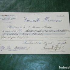 Facturas antiguas: RECIBO TALLERES MECANICOS CONSTRUCCIONES MADERA CUCURELLA HERMANOS, BARCELONA, 1931. Lote 87073956