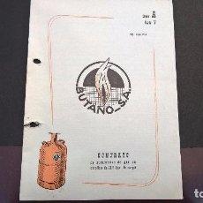 Facturas antiguas: CONTRATO SUMINISTRO GAS BUTANO-MORALZARZAL 1965. Lote 87586924