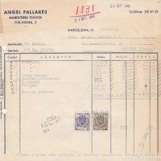 Alte Rechnungen - FACTURA. ANGEL PALLARÉS. MANUFACTURAS PLÁSTICAS. BARCELONA. 1963. - 89761196
