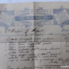 Fatture antiche: FABRICA DE ESTUCHES, LUIS MESA MONTORO, CORDOBA, 1904. Lote 91596575