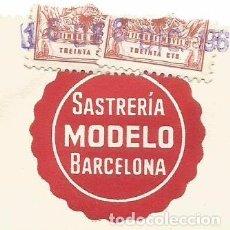 Facturas antiguas: SATRERIA MODELO RAMBLA CANALETAS BARCELONA FACTURA ORDEN ENVIO AÑO 1961 SR RICARDO MARTI RICHMAN. Lote 94363610