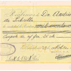 Facturas antiguas: BOADA,S/A BARCELONA A LIBRILLA,MURCIA . DD. DEL 29-NOV-1951. Lote 96035563