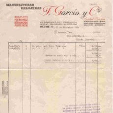 Facturas antiguas: F.GARÍA Y CÍA., MADRID, FTRA. Nº 12488 DEL 23-12-1964. Lote 96338519