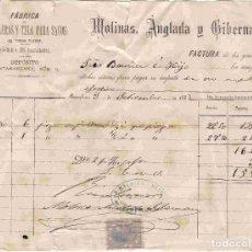 Facturas antiguas: FACTURA ANTIGUA: MOLINAS, ANGLADA Y GIBERNAU, DE BARCELONA. FECHA 3-9-1883. Lote 96359323