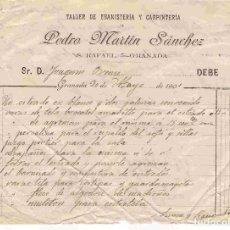 Facturas antiguas: FACTURA ANTIGUA: PEDRO MARTÍN SÁNCHEZ, GRANADA. FECHA 30-5-1901. Lote 96360203