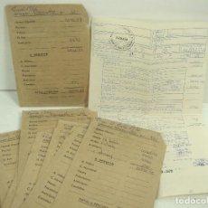 Facturas antiguas: 10X SOBRE+NOMINA-OPERARIO AÑOS 70-EMPRES PRIVASA PRIMITIVA VALENCIA-QUART DE POBLET SALARIO JORNAL 2. Lote 97344695
