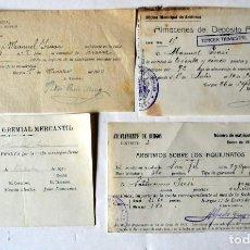 Facturas antiguas: LOTE DE FACTURAS DE LA ADMINISTRACIÓN Y COMERCIO DE BURGOS. AÑOS 1930 . Lote 97993563