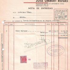 Facturas antiguas: FACTURA. JOSÉ UMBERT ROSÁS. FÁBRICA DE TEJIDOS. BARCELONA. ESPAÑA 1959. Lote 101527391