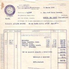 Facturas antiguas: FACTURA. TEXTIL MARTI LLOPART Y TRENCHS, S.A. BARCELONA. ESPAÑA 1940. Lote 104391879