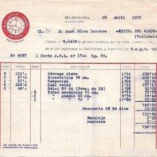 Facturas antiguas: FACTURA. TEXTIL MARTI LLOPART Y TRENCHS, S.A. BARCELONA. ESPAÑA 1932. Lote 104395799