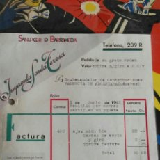 Facturas antiguas: ANTIGUA FACTURA SANTA TERESA IMPRENTA Y PAPELERÍA. Lote 105067470