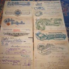 Facturas antiguas: LOTE DE DIEZ FACTURAS ANTIGUAS.. Lote 105985686