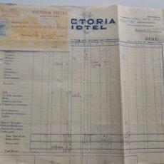 Facturas antiguas: VICTORIA HOTEL / BARCELONA AÑO 1927. Lote 105992842