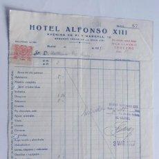 Facturas antiguas: HOTEL ALFONSO XIII / MADRID 1927 / TIMBRE CUOTA BENEFICA - ASOCIACION MATRITENSE DE CARIDAD. Lote 105993707