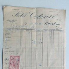 Facturas antiguas: HOTEL CONTINENTAL / BARCELONA 1926 / . Lote 105994183