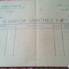 Facturas antiguas: FABRICA DE HARINAS SANTA MARTA - MENGIBAR (JAEN) - AÑOS 10. Lote 108099784