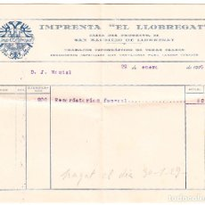 Facturas antiguas: FACTURA IMPRENTA EL LLOBREGAT - SAN BAUDILIO LLOBREGAT - 1929. Lote 109347051