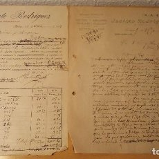 Facturas antiguas: LOTE DOS FACTURAS TIENDA LA LUZ DE BADAJOZ, AÑO 1919. Lote 110253999