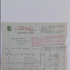 Facturas antiguas: ANTIGUA FACTURA. PRODUCTOS GOTA DE AMABAR. PERFUMERIA. OCTUBRE 1945. DPTO ZARAGOZA. . Lote 111752787