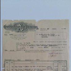 Facturas antiguas: ANTIGUA FACTURA. COMPAÑIA NACIONAL DE HILATURAS. BARCELONA JUNIO 1936. Lote 111753055