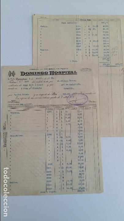 ANTIGUA FACTURA. FABRICA DE GENEROS DE PUNTO DOMINGO HOSPITAL. BARCELONA ABRIL 1936 (Coleccionismo - Documentos - Facturas Antiguas)