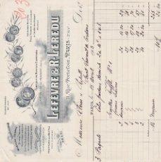 Factures anciennes: LEFÈVRE Y R.LEREDU PARIS FRANCIA 1905. Lote 112506575