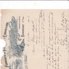 Fatture antiche: GEORGES DURAN NICOLLET ROCHECHOUART FRANCIA 1903. Lote 112704471