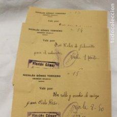 Facturas antiguas: 4 FACTURAS, NICOLAS GOMEZ, ABARAN, 1933 Y 1934. Lote 112819515