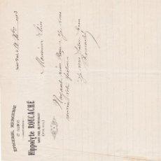 Facturas antiguas: HIPPOLYTE ROUCACHÉ SAINT PAUL DE FENOUILLET FRANCIA 1903. Lote 112958275